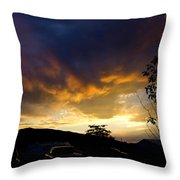 sunset in Cody wy Throw Pillow