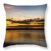Sunset In Dar Throw Pillow