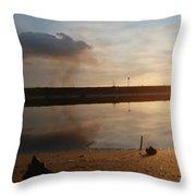 Sunset In Delta Throw Pillow