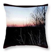 Sunset In Door County Throw Pillow