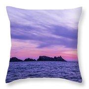 Sunset In Dubrovnik Throw Pillow