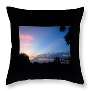 Sunset In Early Evening Throw Pillow