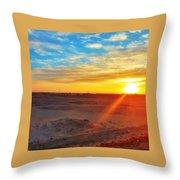 Sunset In Egypt Throw Pillow