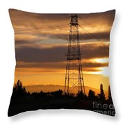 Sunset In Fremont Throw Pillow