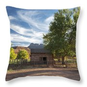 Sunset In Grafton Ghost Town I Throw Pillow