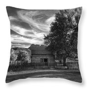 Sunset In Grafton Ghost Town Throw Pillow