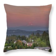 Sunset In Happy Valley Throw Pillow