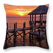 Sunset In Hatteras Throw Pillow