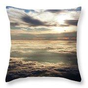 Sunset In Heaven Throw Pillow
