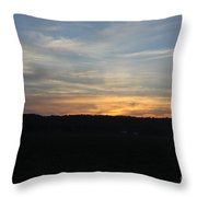 Sunset In Indiana Throw Pillow