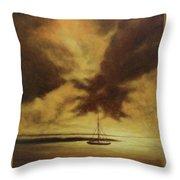 Sunset In Jamaica Throw Pillow