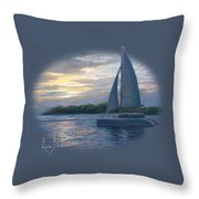 Sunset In Key West Throw Pillow by Lucie Bilodeau
