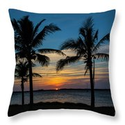 Sunset In Key West Throw Pillow