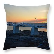 Sunset In Maine Throw Pillow