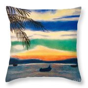 Sunset In Manuel Antonio  Throw Pillow
