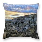 Sunset In Matera.italy Throw Pillow
