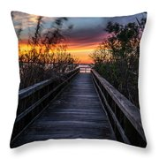 Sunset In Meaher Park #102 Throw Pillow