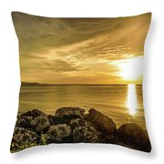 Sunset In Montego Bay Throw Pillow
