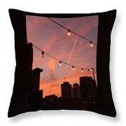 Sunset In Nashville Throw Pillow