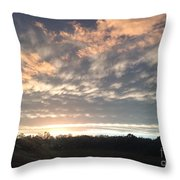 Sunset In November  Throw Pillow