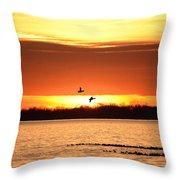 Sunset In Orange Throw Pillow
