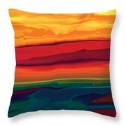 Sunset In Ottawa Valley 1 Throw Pillow
