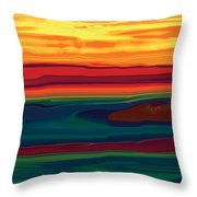 Sunset In Ottawa Valley Throw Pillow