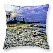 Sunset In Palma Sola Throw Pillow