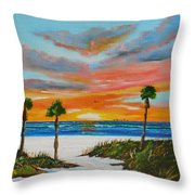 Sunset In Paradise Throw Pillow by Lloyd Dobson