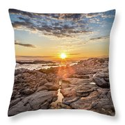 Sunset In Prospect, Nova Scotia Throw Pillow
