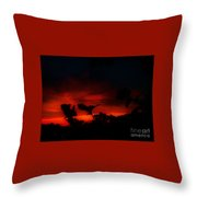 Sunset In Red And Black Throw Pillow