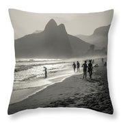 Sunset In Rio De Janeiro Throw Pillow