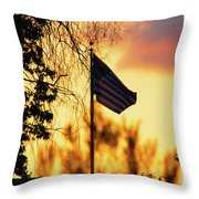 Sunset In San Diego Throw Pillow