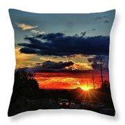 Sunset In Santa Fe Throw Pillow