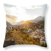 Sunset In Sion Throw Pillow