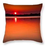 Sunset In Spain Throw Pillow