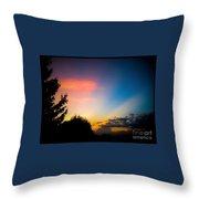 Sunset In Summer  Throw Pillow
