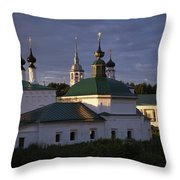 Sunset In Suzdal Throw Pillow