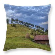 Sunset In The Carpathians Throw Pillow