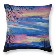 Sunset In The Country Throw Pillow
