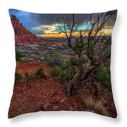 Sunset In The Garden Of Eden Throw Pillow