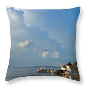 Sunset In The Keys Throw Pillow