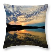 Sunset In The Pinelands  Throw Pillow
