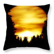 Sunset In The Round Throw Pillow