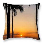 Sunset In The Sandwich Isles  Throw Pillow