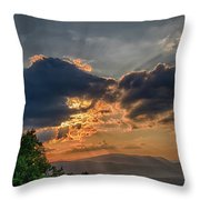 Sunset In The Shenandoah Valley Throw Pillow