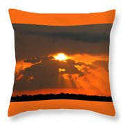 Sunset In The South Throw Pillow