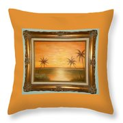 Sunset In The Tropics Throw Pillow