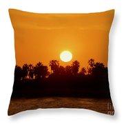 Sunset In Ventura Throw Pillow