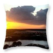 Sunset In Viera Florida Throw Pillow